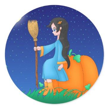 Halloween Themed Cute Witch sticker