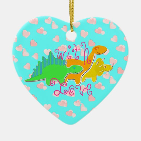 Cute With Love Dinosaurs Ceramic Ornament