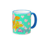 Cute With Love Dinosaurs Hearts Pattern Mug