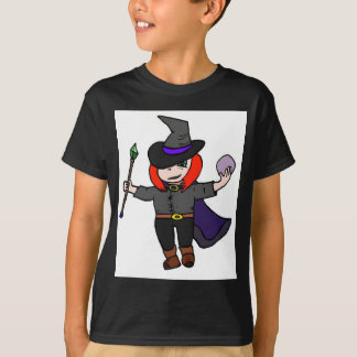 Cute Wizard with Crystal Ball T-Shirt