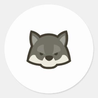 Cute Wolf Round Stickers