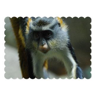 Cute Wolf's Monkey 5x7 Paper Invitation Card