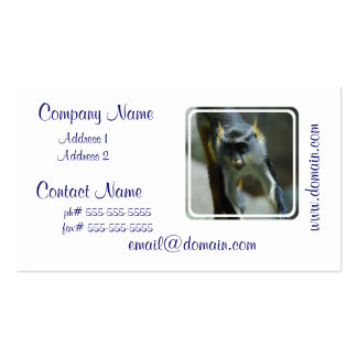 Cute Wolf's Monkey Double-Sided Standard Business Cards (Pack Of 100)