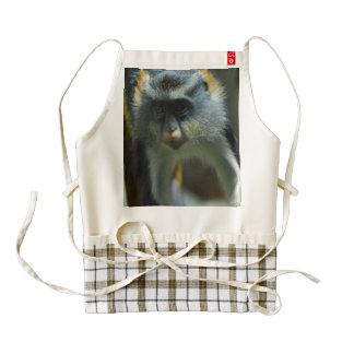 Cute Wolf's Monkey Zazzle HEART Apron