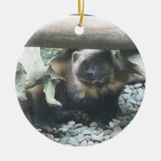 Cute Wolverine Ceramic Ornament