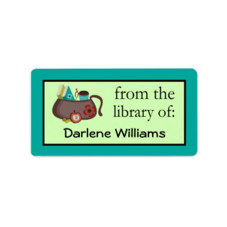 Cute Womens Personalized Bookplate Stickers Gift