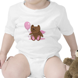 Cute wooden bear bearing gifts baby bodysuit