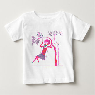 CUTE WOODEN DOLL ON SWING BABY T-Shirt