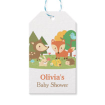 Cute Woodland Animal Baby Shower Party Labels