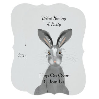 Cute Woodland Animal Bunny Rabbit Peronalized Card