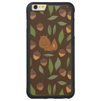 Cute woodland animal chipmunk pattern carved® maple iPhone 6 plus bumper case