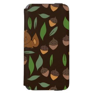 Cute woodland animal chipmunk pattern iPhone 6/6s wallet case