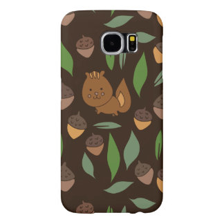 Cute woodland animal chipmunk pattern samsung galaxy s6 cases