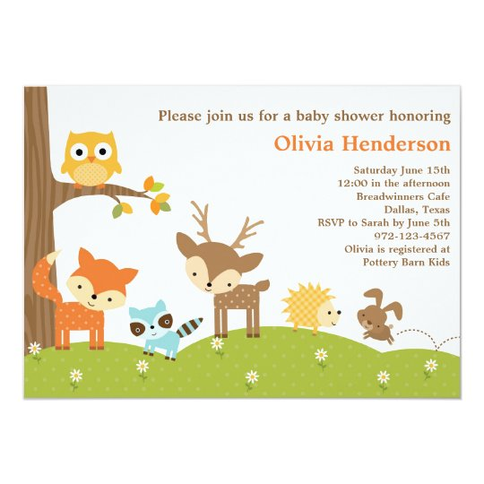 Woodland Animals Invitations Announcements Zazzle