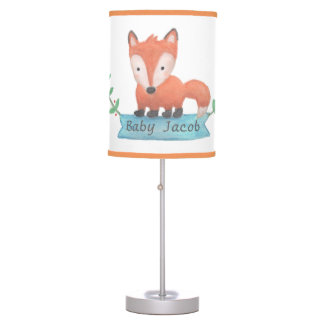 Cute Woodland Animal Little Fox Nursery Room Decor Table Lamp