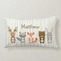 Cute Woodland Animal Lumbar Pillow