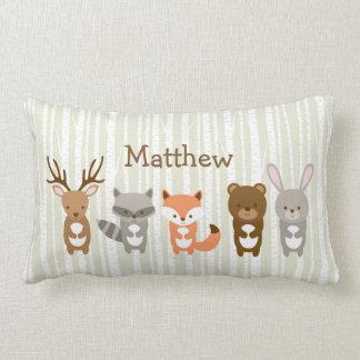 Cute Woodland Animal Lumbar Pillow