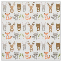 Cute Woodland Animal Nursery Fabric