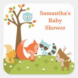 Cute Woodland Animal Stickers