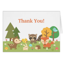 Cute Woodland Animal Thank You
