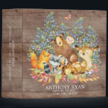 """Cute Woodland Animals Baby Photo Album 3 Ring Binder<br><div class=""""desc"""">Cute woodland animals for a baby boy or baby girl. Our cute forest scene featuring a beer,  deer,  fox,  owl,  raccoon,  &amp; moose. Matching items available in our shop.</div>"""