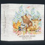 """Cute Woodland Animals Baby Photo Album Binder<br><div class=""""desc"""">Cute woodland animals for a baby boy or baby girl. Our cute forest scene featuring a beer,  deer,  fox,  owl,  raccoon,  &amp; moose. Matching items available in our shop.</div>"""