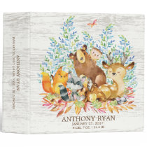 Cute Woodland Animals Baby Photo Album Binder
