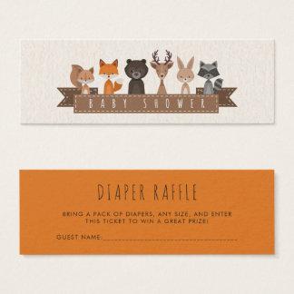 Cute Woodland Animals Baby Shower | Diaper Raffle