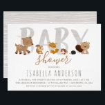 "Cute Woodland Animals | Gender Neutral Baby Shower Invitation<br><div class=""desc"">Create your own &#39;Cute Woodland Animals 