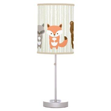 LittlePrintsParties Cute Woodland Animals Nursery Lamp