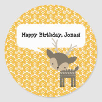 Cute Woodland Animals Personalized Deer Stickers