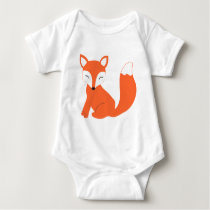 Cute Woodland Baby Fox Baby Bodysuit