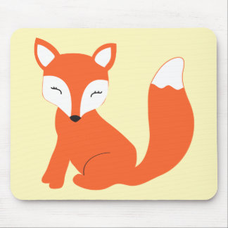 Cute Woodland Baby Fox Mouse Pad