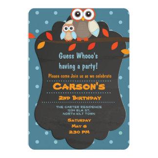 Cute Woodland Birthday Owl Card