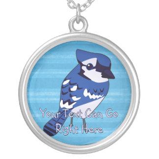 Cute Woodland Bluejay Necklace