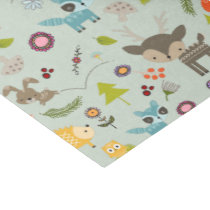 Cute Woodland Creatures Animal Pattern Tissue Paper