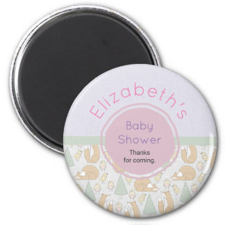Cute Woodland Creatures Baby Shower Thank You Magnet