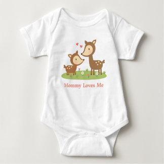 Cute Woodland Deer Mother and Child For Babies Baby Bodysuit