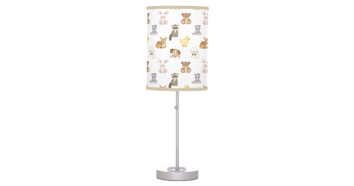 Farm Baby Animals Nursery Table Lamp