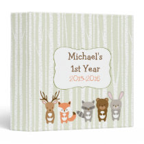 Cute Woodland Forest Animal Baby Photo Binder