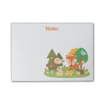Cute Woodland Forest Animal For Kids Post-it Notes