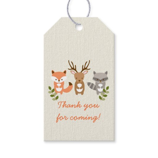 Cute Woodland Forest Animal Party Favor Tags