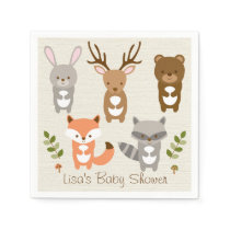 Cute Woodland Forest Animal Personalized Napkins