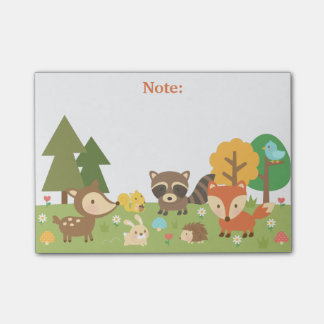 Cute Woodland Forest Animals and Creatures Post-it Notes