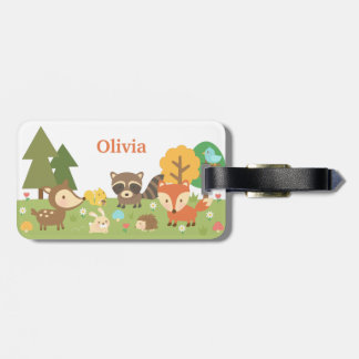Cute Woodland Forest Animals and Creatures Tag For Luggage