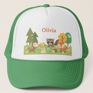 Cute Woodland Forest Animals and Creatures Trucker Hat