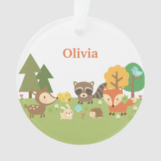 Cute Woodland Forest Animals Kids Room Decor Ornament
