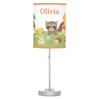 Cute Woodland Forest Animals Kids Room Decor Table Lamp