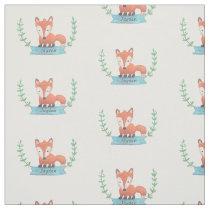 Cute Woodland Fox Kids Personalized Fabric
