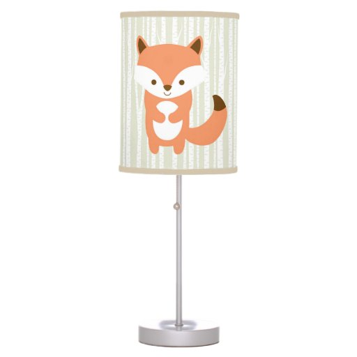 Cute Woodland Fox Nursery Lamp